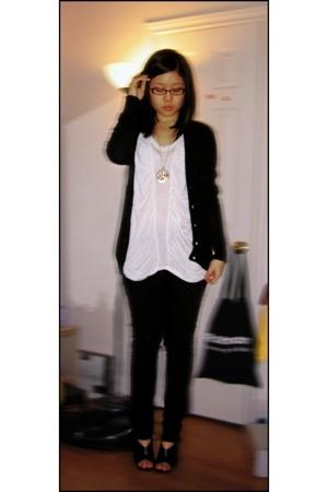 Zara top - Zara jacket - Zara jeans - Forever21 necklace - Aldo shoes