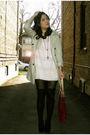 Beige-zara-coat-pink-h-m-dress-black-h-m-stockings-black-forever-21-socks-