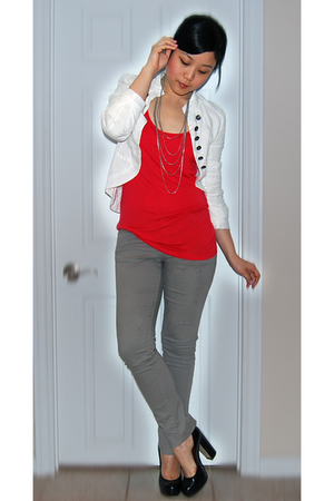 Zara jacket - H&M top - Zara jeans - Aldo shoes - Forever21 necklace