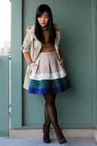 Zara skirt - suede Luxury Rebel boots - trench coat Zara coat