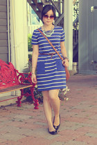 blue Gap dress - brown Michael Kors purse - light blue Forever 21 necklace