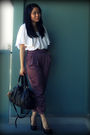 White-h-m-blouse-purple-urban-outfitters-pants-black-urban-outfitters-bag-