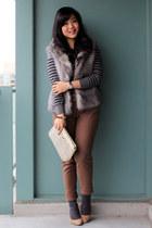 camel Aldo heels - charcoal gray striped joe fresh style sweater