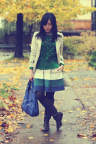 green joe fresh style sweater - dark brown Report boots - beige Zara coat