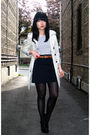 Beige-zara-coat-white-h-m-dress-black-h-m-skirt-black-h-m-stockings-blac