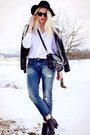 Denim-hm-jeans-white-hm-shirt