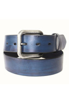 blue leather Birdhouse Designs belt