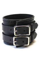 black leather Birdhouse Designs bracelet