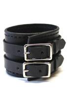 black leather Birdhouse Designs bracelet