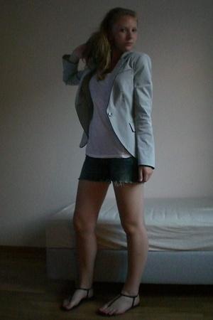 H&M shirt - Zara blazer - H&M shorts
