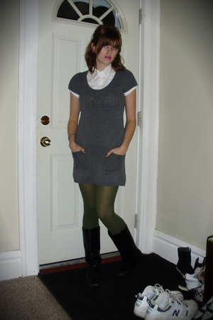 JC Penney dress - the icing tights - sears boots - rainbow blouse