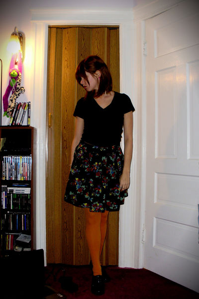 evolution shirt - Wet Seal skirt - the icing tights - JC Penney shoes