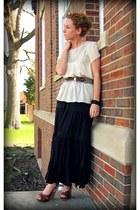 ethereal Anthropologie blouse - enchanting eyes Anthropologie belt - karen kane