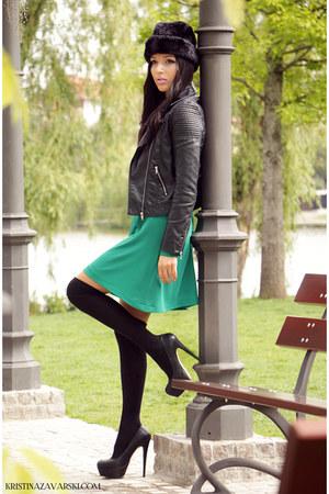 Zara dress - asos hat - H&M jacket