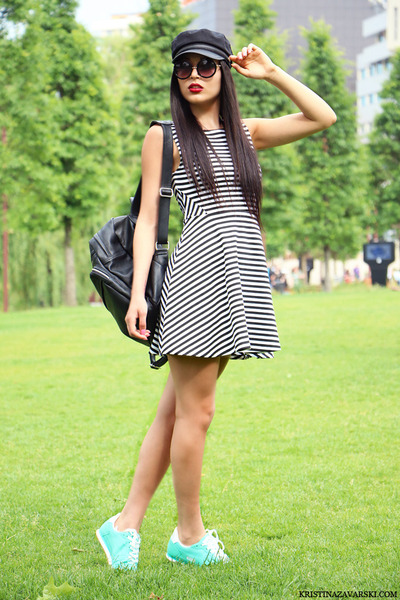 H&M dress - asos hat - Lee Cooper sneakers