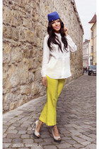 shoes - H&M shirt - Kristina Zavarski hair accessory - Zara pants