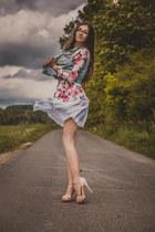 skirt - blouse - vest - Zara heels