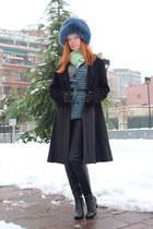 multi coloured Missoni top - black leather Geox boots