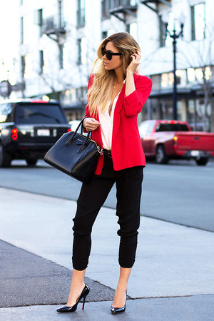 red French Connection UK blazer - black Givenchy bag - black Celine sunglasses