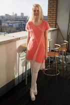 carrot orange Krossy dress - ivory Krossy sandals
