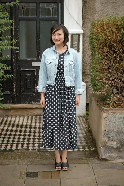 black Krossy dress - blue Krossy jeans