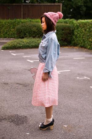light blue Krossy jacket - silver Krossy purse - bubble gum Krossy skirt