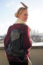 brick red Krossy jacket - black Krossy bag - brown Krossy hair accessory
