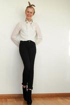 ivory Krossy blouse - light brown Krossy hair accessory