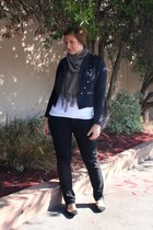 navy Forever 21 jacket - black Old Navy jeans - white Old Navy t-shirt - heather