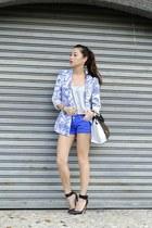 blue romwe blazer