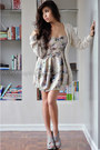 beige Dorothy Perkins cardigan - gray wholesale-dressnet shoes