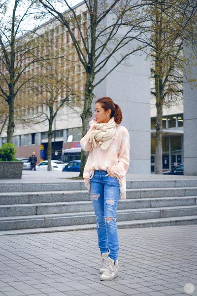 light pink Wildfox sweater
