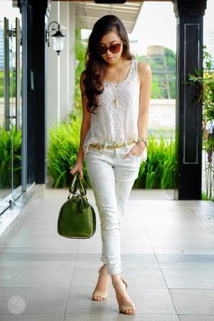 white S&K top - ivory S&K pants