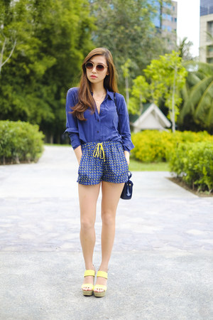 blue Furla bag