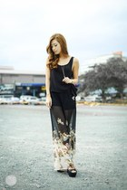 black romwe pants