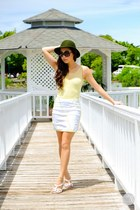 white WAGW skirt - light yellow Kryz Uy X Romwe top