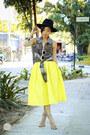 Yellow-choies-skirt-black-thrift-market-top