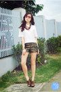 Gold-oh-my-frock-shorts-brick-red-holic-necklace-white-clothes-off-top