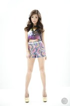 deep purple SM GTW top - periwinkle SM GTW shorts