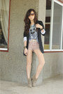 Black-iwearsin-blazer-light-pink-topshop-shorts