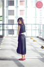 Black-closet-goddess-dress-black-prada-bag-hot-pink-so-fab-flats