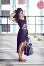Black-closet-goddess-dress-black-prada-bag-hot-pink-so-fab-flats
