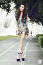 Gold-cesa-shorts-navy-bianca-pitogo-vest-purple-lulus-heels