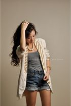 white vintage from jun escario blazer - white vintage ivory from mom accessories