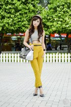 cream Blind Clothing top - light yellow Ministry of Retail pants