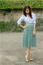 Periwinkle-massimo-dutti-top-aquamarine-moms-skirt-gold-michael-antonio-heel