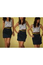 moms 80s aerobics top top - What A Girl Wants belt - H&M skirt