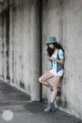 Clothes-for-the-goddess-boots-gap-shirt-mango-shorts