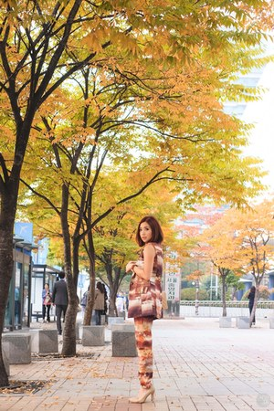 light orange Thea by Thara suit