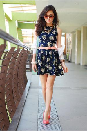 navy Love dress - aquamarine clothes for the goddess bag
